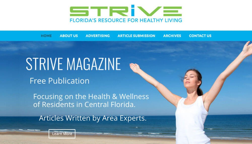 Strive Magazine | Great Looking Websites
