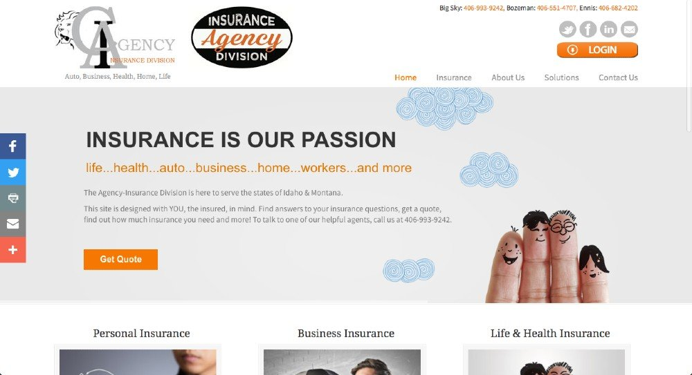 Agency Insurance Division | Great Looking Websites